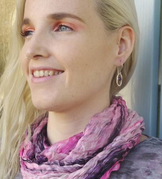 amethyst earing