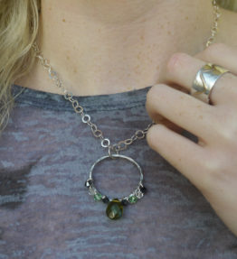 crystl necklace & ring