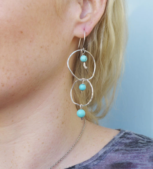 double hoop earing