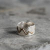 Sterling silver and 14kt gold mountain ring