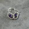 Blue Amethyst Oval Earrings