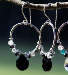 crystal black earring 2