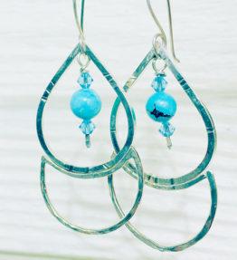silver blue dangle