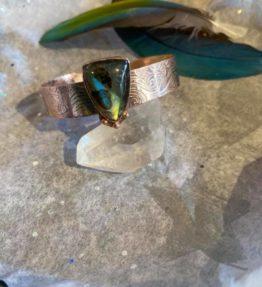 Copper Cuff with Labradorite