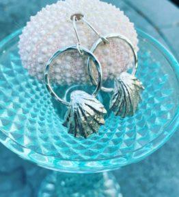 Sterling Sea Shell Earrings