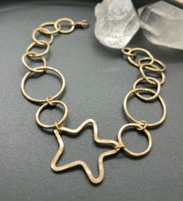 14KT Gold Filled Star Bracelet